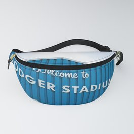 Welcome to Dodger Stadium | Los Angeles California Nostalgic Iconic Sign Art Print Tapestry Fanny Pack
