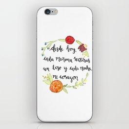 Un Beso y Mi Corazon iPhone Skin