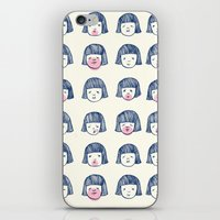 bubble iPhone & iPod Skins featuring Bubble bubble bubble gum by Young Ju