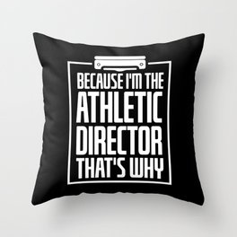 Sports Coach Athlete Director Gift Throw Pillow