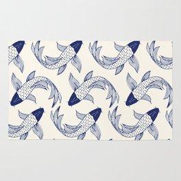 Japanese Koi Fish Pattern Rug