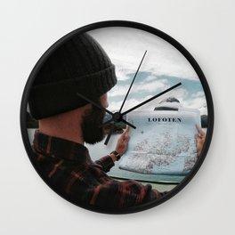 Wild traveller at Lofoten Island Wall Clock