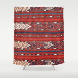 Yomut Flatweave Southwest Turkestan Kilim Print Shower Curtain