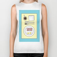 breakfast Biker Tanks featuring Breakfast by Hope Palattella
