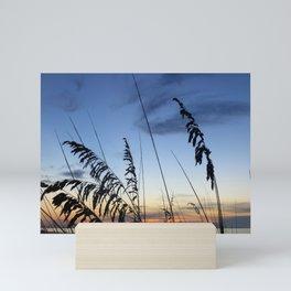 Sea Oats Silhouette Mini Art Print