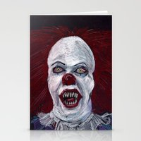 pennywise Stationery Cards featuring Pennywise by Eric Dockery