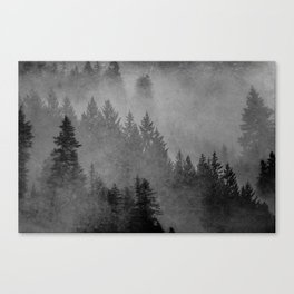 Charcoal Forest Canvas Print
