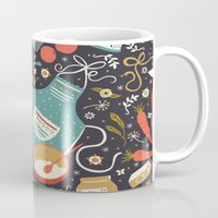 coasters Mugs featuring Carrot Cake by Anna Deegan