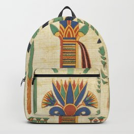Egyptian paper papyrus hieroglyphs Backpack