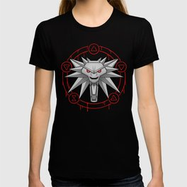 Witcher White Wolf Signs Medallion T-shirt
