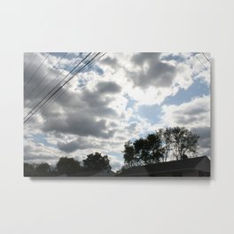 The clouds looked so vibrant, Metal Print