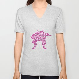 Dva type illustration Unisex V-Neck