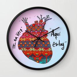 Aquí Estoy Wall Clock