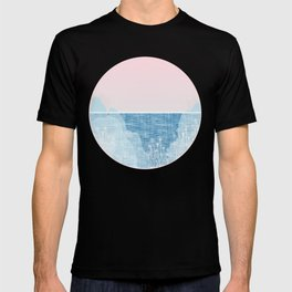 Pastel Sea Landscape Design T-shirt