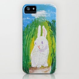 Easter Bunny hiding it's eggs iPhone Case