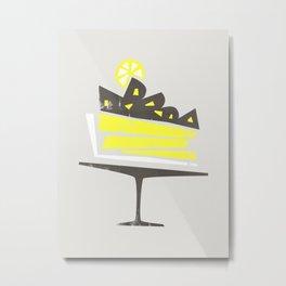 Lemon Pie Metal Print