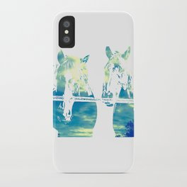 Two Horses and Sky iPhone Case