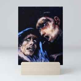 """Francisco Goya """"Monk Talking to an Old Woman"""" Mini Art Print"""