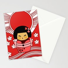 Kokeshi Sakura Stationery Cards