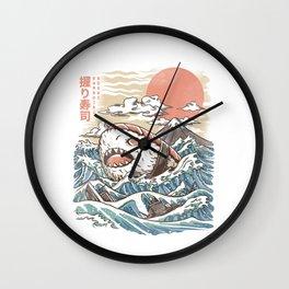 Sharkiri Sushi Wall Clock