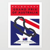 My F1 MELBOURNE Race Track Minimal Poster Art Print