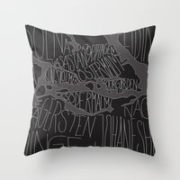 stockholm Throw Pillows featuring Stockholm by Malin Erixon