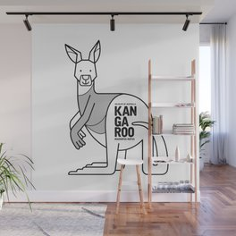Kangaroo, Wildlife of Australia Wall Mural