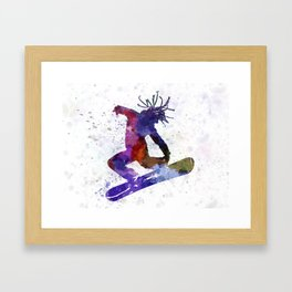 young snowboarder Framed Art Print