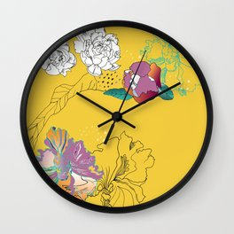 Sunshine orchids Wall Clock