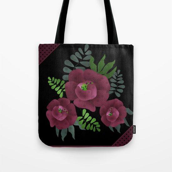 Burgundy roses. Tote Bag