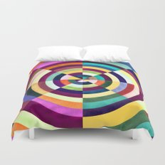 Playing Darts with Colours Duvet Cover