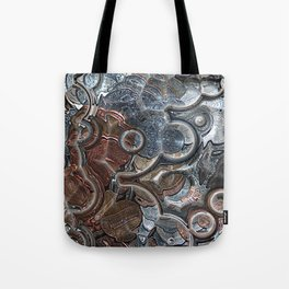 Abstract Coins Tote Bag