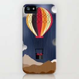 Balloon Aeronautics Rain iPhone Case