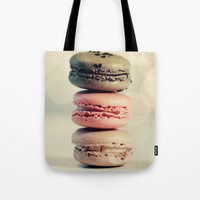 macarons Tote Bags featuring macarons . . . by [o] Suze q