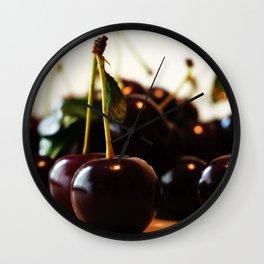 delicious cherry Wall Clock