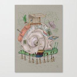 One man's trash - Snailer Park Canvas Print