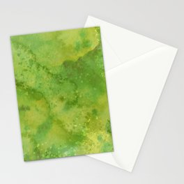 Watercolor lime green abstract hand painted pattern Stationery Cards