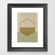 Half Hex Framed Art Print
