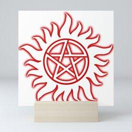 Anti Possession Sigil Red Glow Transp Mini Art Print