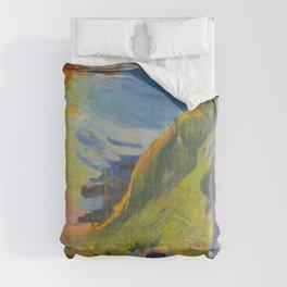 """Paul Gauguin """"Au-dessus de la mer (Above the sea)"""" Comforters"""