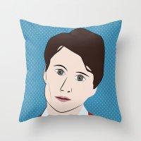 ezra koenig Throw Pillows featuring Ezra Koenig by LAUNCH