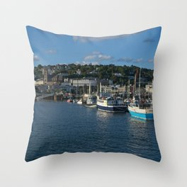 Torquay Harbour Throw Pillow