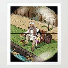 Zoom Art Print