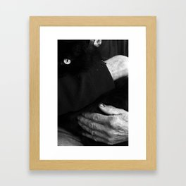 CARESS AND GO TO BED. Framed Art Print