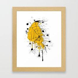 Spiderweb spiders ink splash Framed Art Print