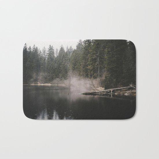 In the Fog - Landscape Photography Bath Mat