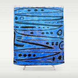 Paul Klee Heroic Strokes Shower Curtain