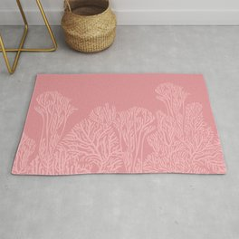Dusty Pink Coral Garden Rug