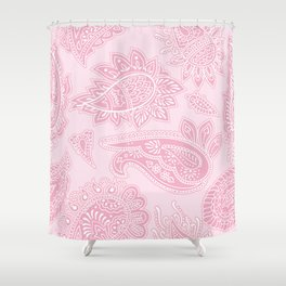 PINK PAISLEY PATTERN Shower Curtain