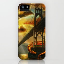 The Dragon of the St Johns Bridge iPhone Case